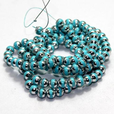 1 Strings Glass Round Beads Turquoise 6mm