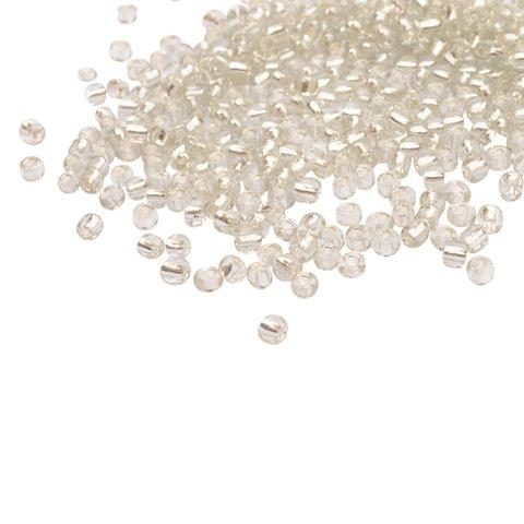 Buy 1 Get 1 Pack Free Silver Glass Seed Bead