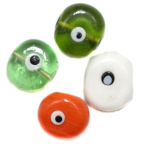 15 Eye Disc Beads Assorted 18-20mm