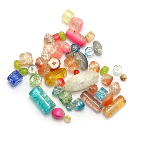 310+ Crackle Beads Assorted 6-12mm