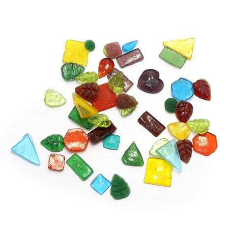240+ Glass Cabochon Beads Assorted 6-15mm