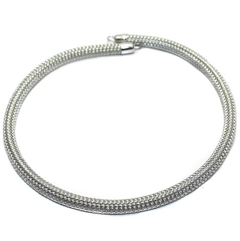 Necklace Collar Silver 15 Inch