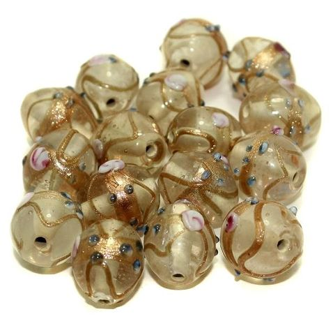 Wedding Cake Oval Beads