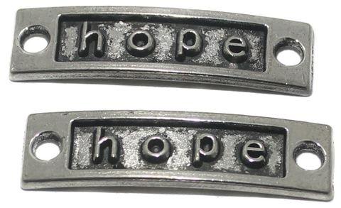 20 Pcs. German Silver Hope Connectors 35x10mm