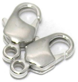 25 Pcs. Lobster Clasp Silver 12x6mm