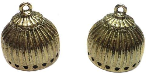 1 Pair German Silver Jhumka Earring Component 20x23mm