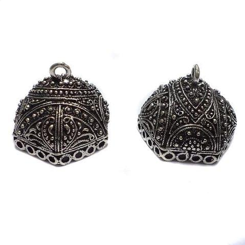 1 PairGerman Silver Jhumka Earring Component 16x24mm