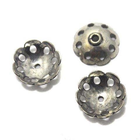 30 German Silver Beads Caps 10x15mm
