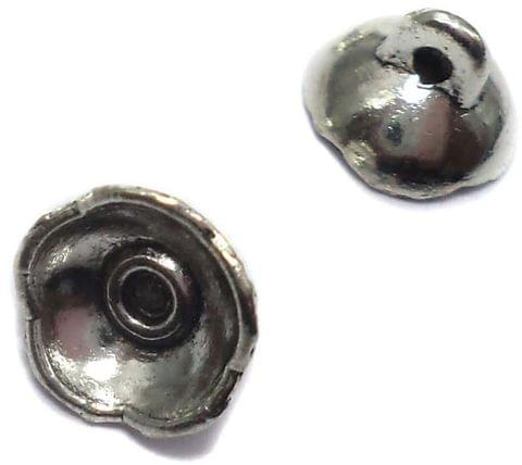20 German Silver Connectors Beads Caps 5x8mm