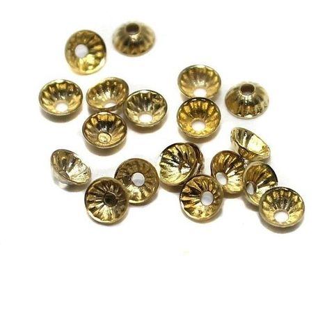 250 Metal Bead Caps Golden 5mm