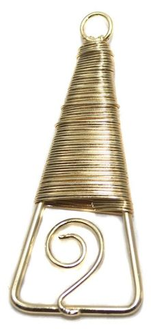 2 Pair Earring Components Wire Wrap Golden 50x22 mm
