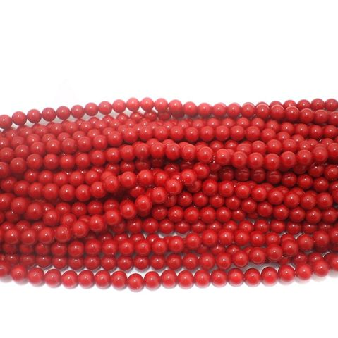 585+ Acrylic Round Beads Red 10mm