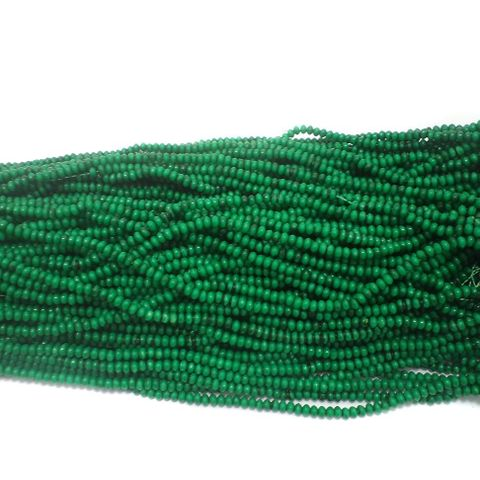 1140+ Acrylic Rondelle Beads Green 4x3mm