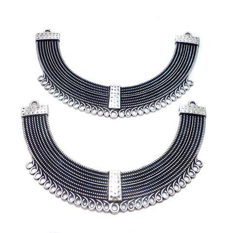 2 Pcs. German Silver Neck Collar 118x25 mm