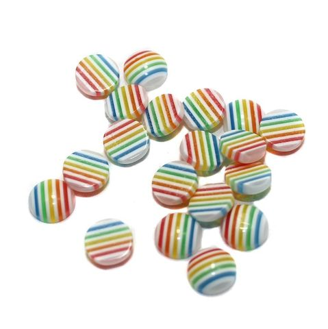 200 Acrylic Cabochon Beads Assorted 8mm