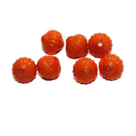 120+ Acrylic Melon Beads Orange 12mm