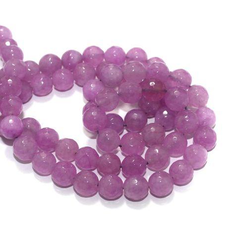 Zed Cut Round Beads Light Purple 10 mm, 2 string