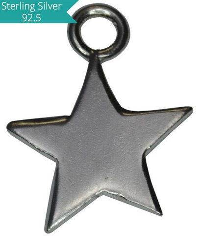 925 Silver Star Charm-10mm