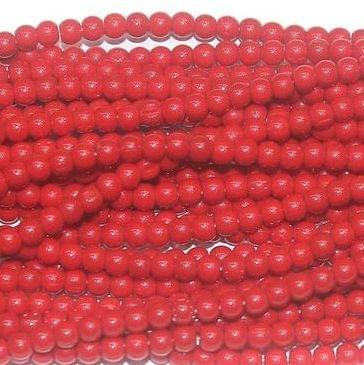 Fire Polish Round Beads Red 3mm 10 Strings