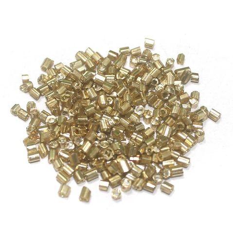 2 Cut Seed Beads Metallic Golden (100 Gm), Size 11/0