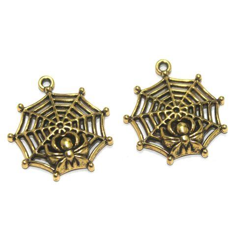 25 Pcs. German Silver Golden Pendants 30x27 mm