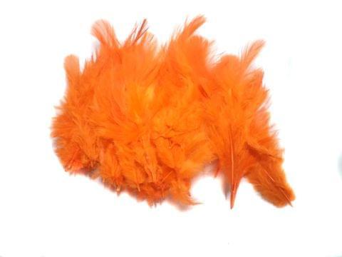 100 Jewellery Making Feather Orange