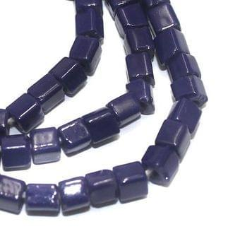 Jaipuri Beads Dark Blue Cube 5 Strings 4mm