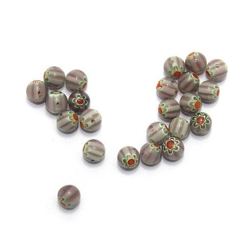 100 Chevron Beads Purple 8mm