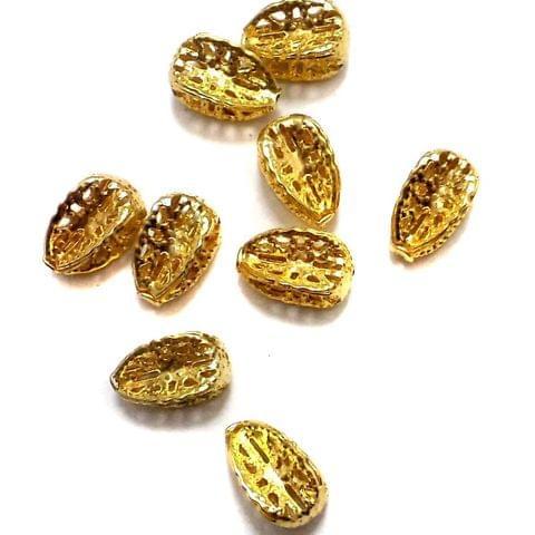 100 Balimbing Beads Golden 11x8mm
