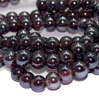 5 strings Glass Round Beads Purple 8mm