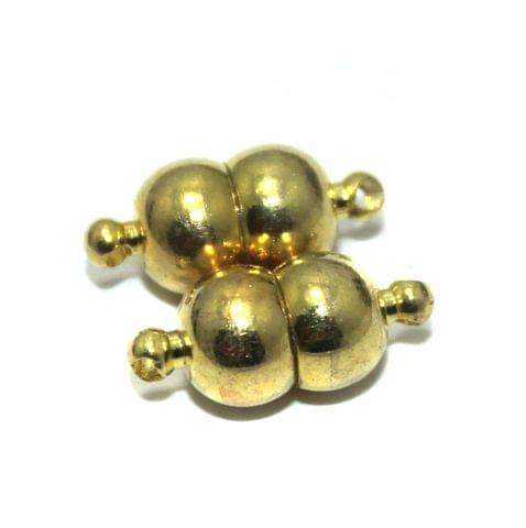 5 Pcs Magnetic Clasps Golden Size 15x7mm