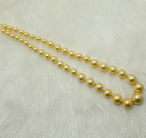 Shell Pearl Beads 1 String 8-16mm Golden