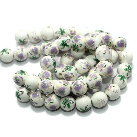 Premium Multicolor Ceramic Beads 2 Strings