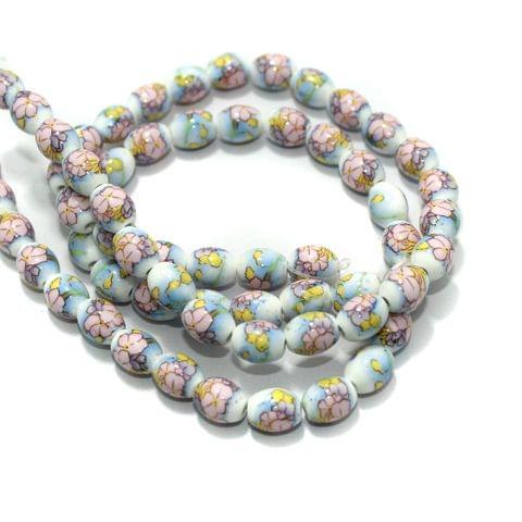 Premium Multicolor Ceramic Beads 1 String