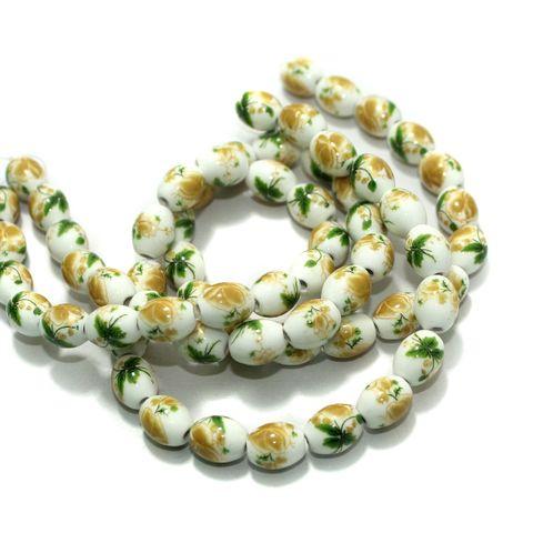 Premium Multicolor Ceramic Beads 1 Strings