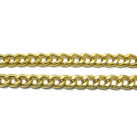 Golden Finish Curv Chain 1 Mtr 12x10mm
