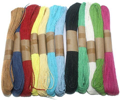12 Colors Paper Raffia Combo Twisty