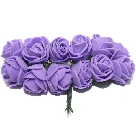 12 Craft Flower Purple 18x14mm