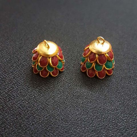 Red Green, Pacchi Jhumka 16mm, 2 Pair