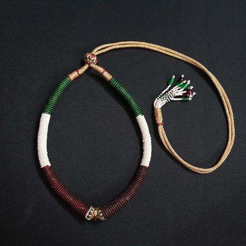 6 Pieces, Multi Color Hasli Necklace Dories.