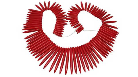 Jewellery Making Synthetic Beads Graduated Multi-Size Range 20mm to 50mm Spike Red (Sold as 1 string, 96 beads/string)