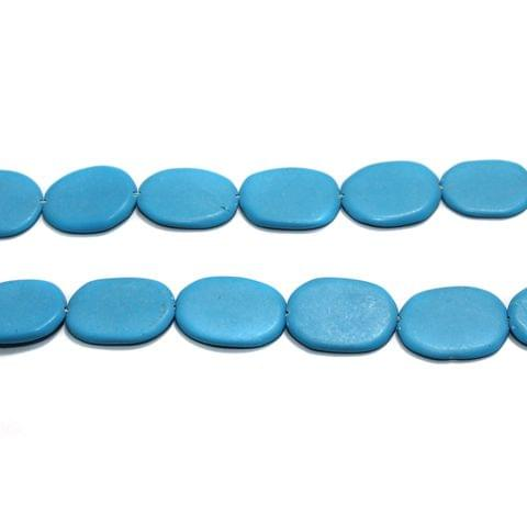 Semiprecious Oval Beads Turquoise 20X12