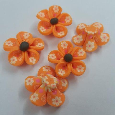 Orange, Rubber Flowers 26mm