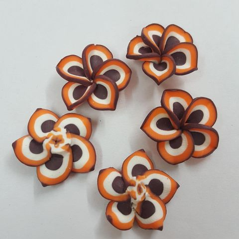 Brown, Rubber Flowers 20mm