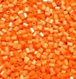 Seed Beads Bugles Orange