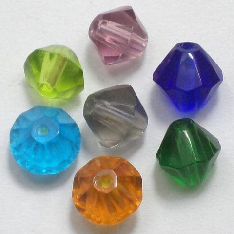 50 Faceted Bicon Assorted 6mm