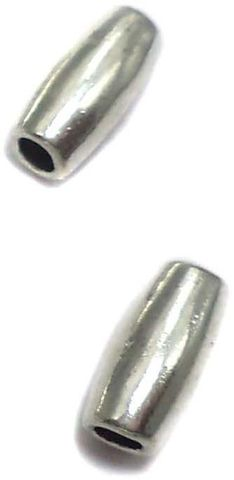 20 German Silver Tube Beads 10x4mm