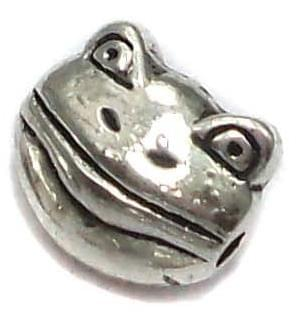 20 German Silver Frog Beads 8x10mm