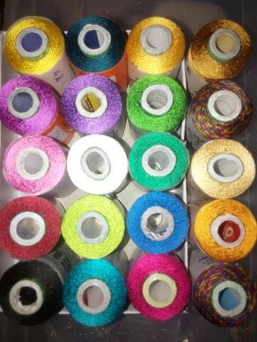 Silk Thread Rolls of various colors 20 Nos