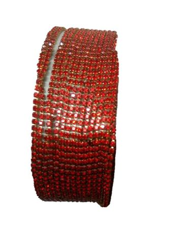2MM Red Color Stone Lace - 10meters length